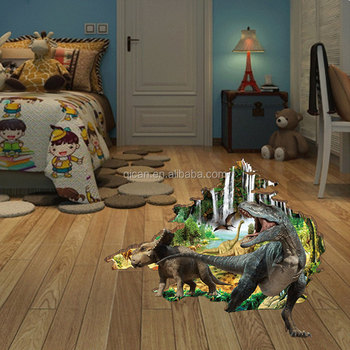 3d dinosaur wall sticker children 39 s room kids bedroom wall for Decoration autocollant mural
