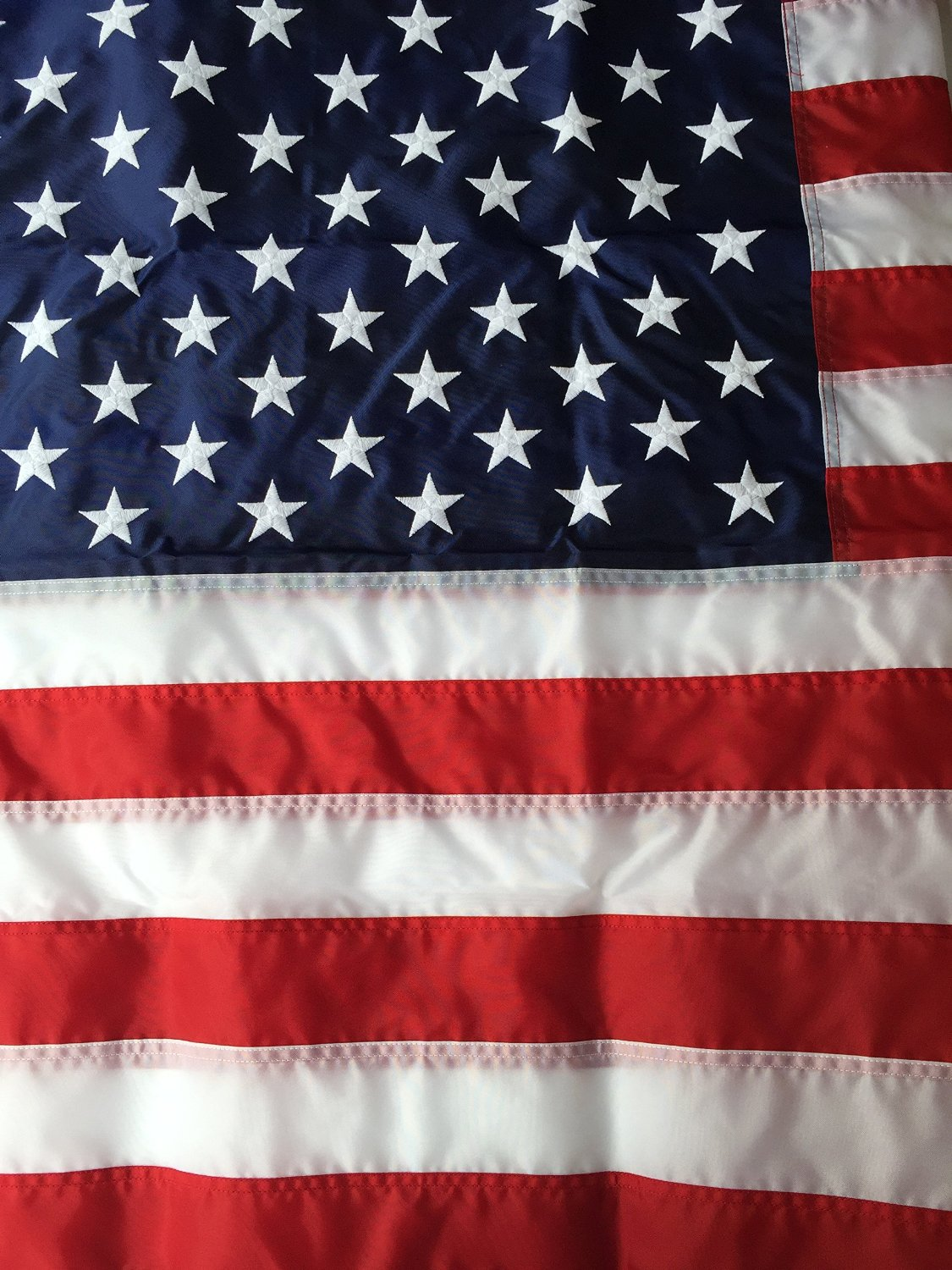 e30f9bf1deea Get Quotations · 15x25 Best Commercial Grade Nylon American Flag 15 x25  US  Flag Made in the