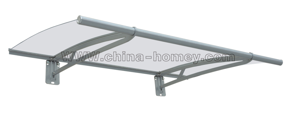 Polycarbonate awning for door and window rain cover