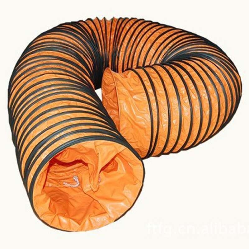 Mining tunnel flexible PVC duct for air ventilation