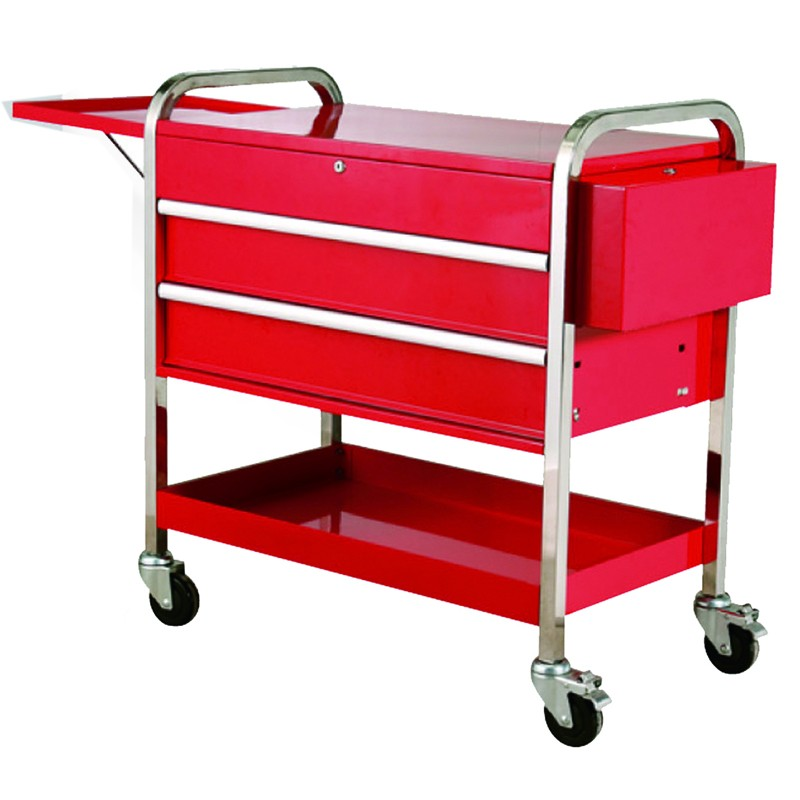 Total tools metal Power coating mobile shopping tool cart for auto repair shop