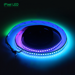 Individually addressable 5m waterproof IP67 5050 rgb 30 60 144 led/m 5v ws2811 ws2812 ws2812b led strip black/white.