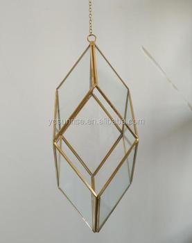 2017 Wholesale Glass Hanging Geometric Glass Terrarium Wholesale