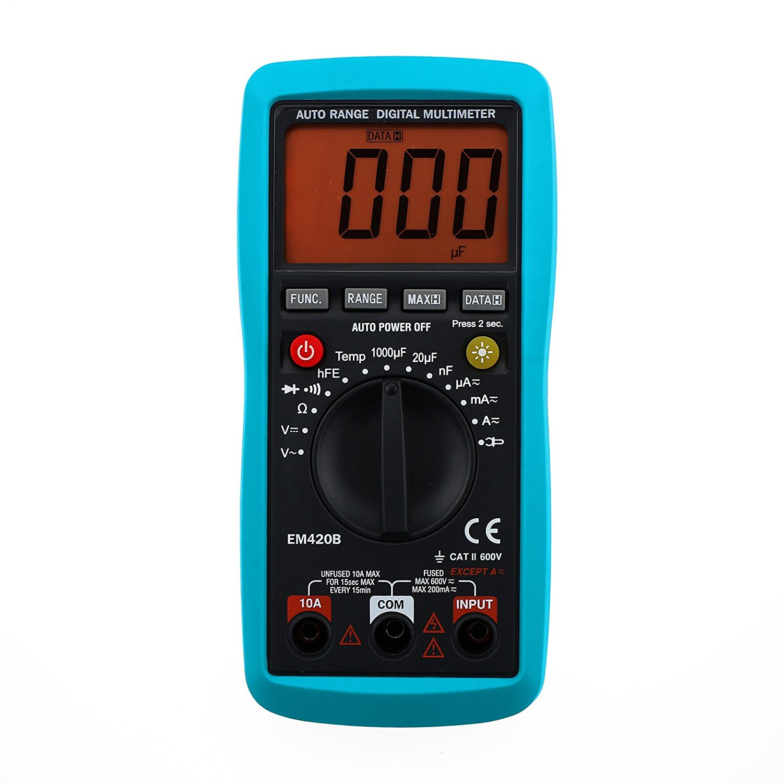 all-sun Digital Multimeter AC DC Amp Volt Temp Multi-function Tester OHM Test Current DMM Multitester