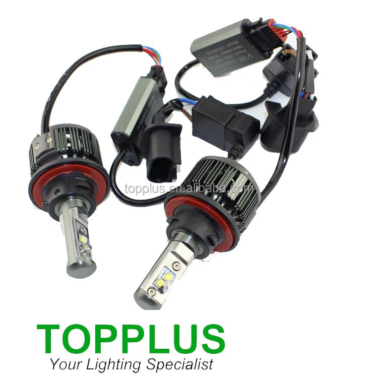 V18 40W H1 Car LED Headlight Lamp Conversion Kit Turbo Led Cool White 6000K