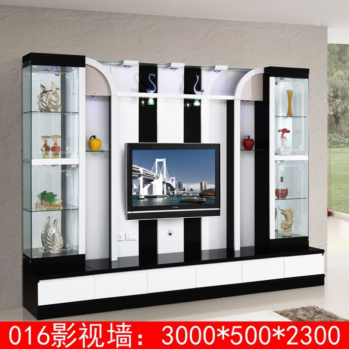 Modern living room mini bar furniture design lcd tv unit for Lcd designs for living room