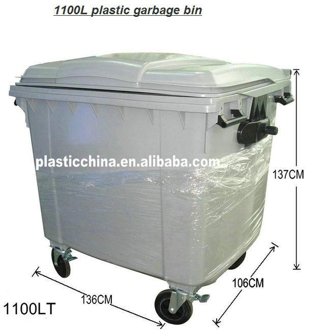 Plastic Wheelie Bin 120l/240l/360l/660l/1100l Plastic Mobile ...