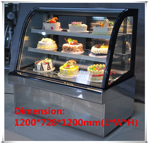 Chinese 1200mm cake pastry refrigerator showcase for super market