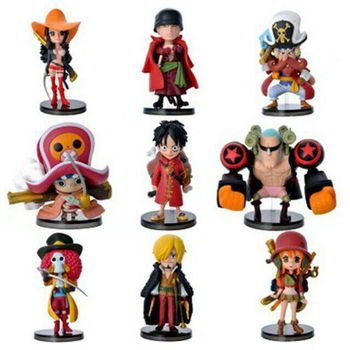 One Piece full set of characters 67 generations of 9 pieces action figure