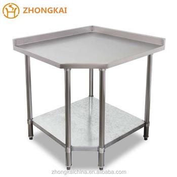 China Binzhou Cheap Stainless Steel Corner Work Table Bench