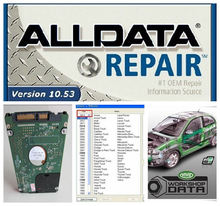 HOT!!! 2015 new arrive Auto Repair Software Alldata 10.53 + Mitchell 2014 + all data and Vivid Workshop 3 softwares in 750GB HDD