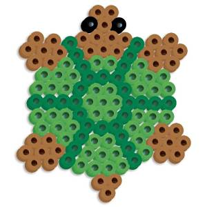 Perler Beads Silicone Pegboard Fused Bead Kit - Turtle