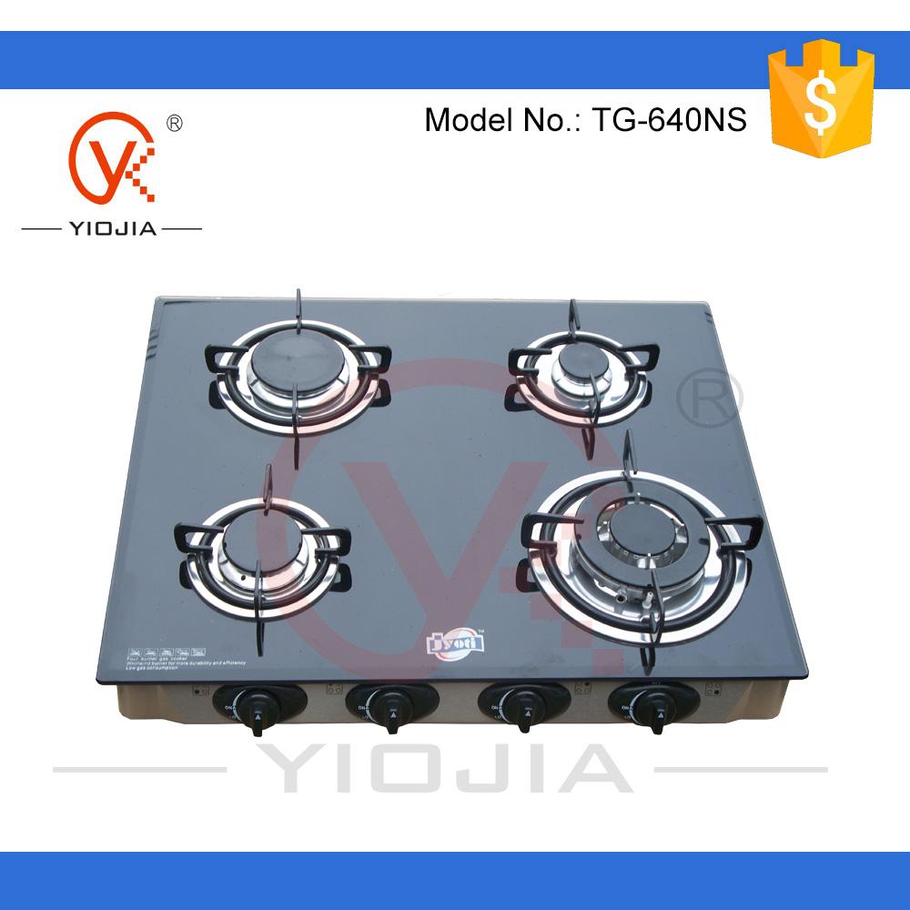 European Style Gl Table Top Gas Stove Cooker Four Burner Tabletop Product On Alibaba