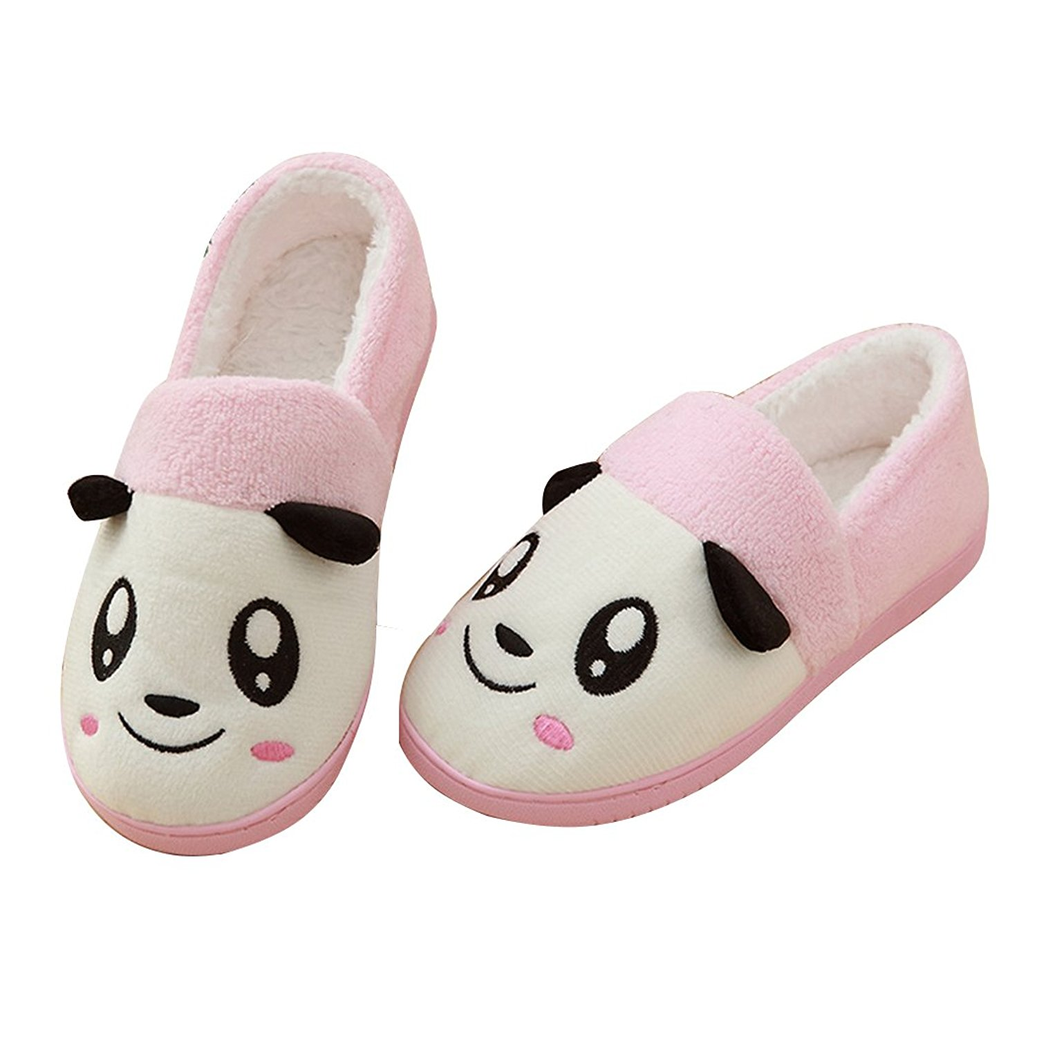 MiYang Winter Women's Pure Cotton Soft Sole Washable Anti-Skid Cozy House Shoes Slippers