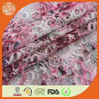 2014 new design cheap polyester printed lace fabric