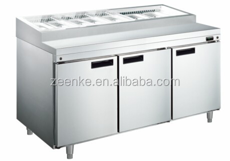 304 Stainless Steel Commercial Counter Top Salad Bar/ Salad Chiller/ Table  Top Salad Bar
