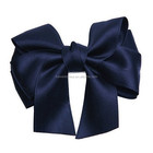 navy blue satin ribbon bows,girls hair accessories bow flower wholesale hair clip