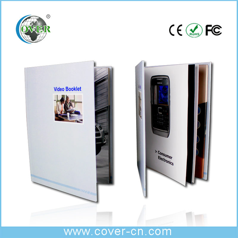 Good quality LCD video brochure for happy birthday and Christmas gifts