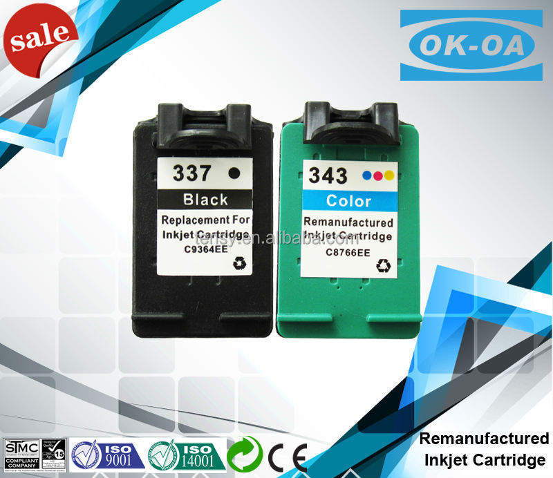 Refilled ink cartridge for hp 337 343 with good quality Factory price!