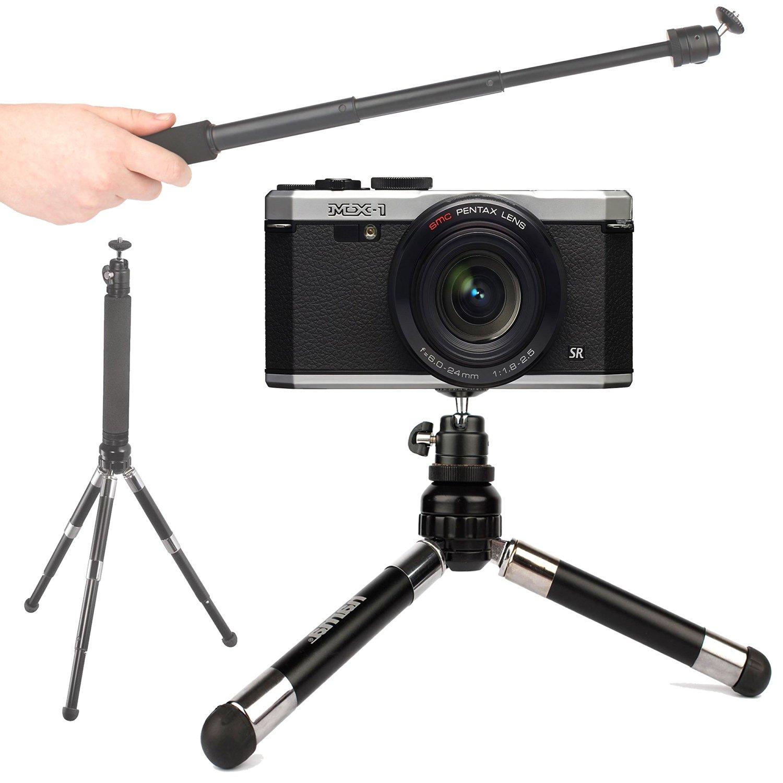 Compatible with Canon LEGRIA HF R506 /& LEGRIA HF R56 DURAGADGET Lightweight Telescopic 2-in-1 Tripod//Monopod