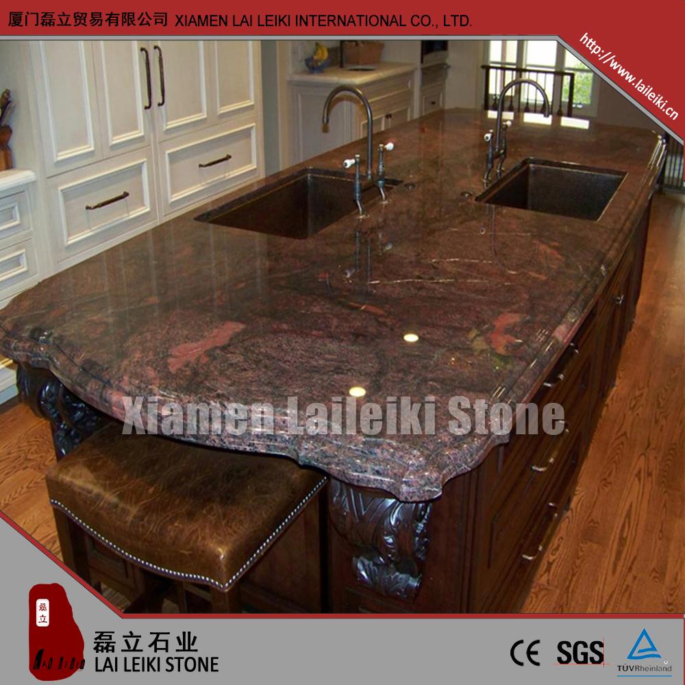 rote polarlicht aruba granit k chenarbeitsplatte oben tischplatte badschrank platte. Black Bedroom Furniture Sets. Home Design Ideas