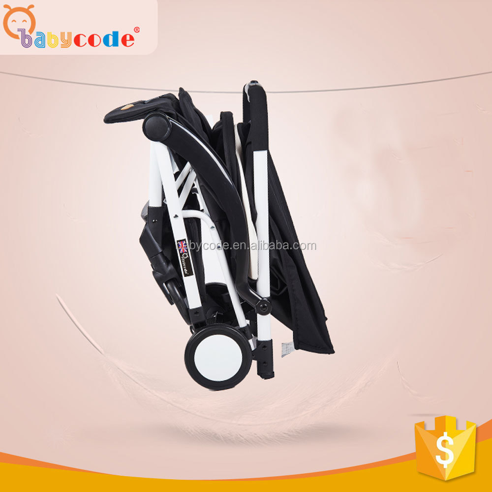 2017 light weight One Hand Open and Folding Baby Buggy Comfortable And Fashion Aluminum Alloy Mini Baby Stroller