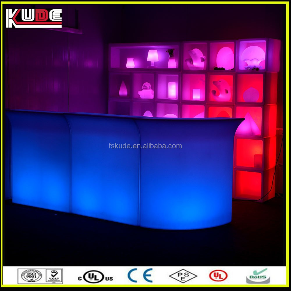custom made LED glow small bar counter with light