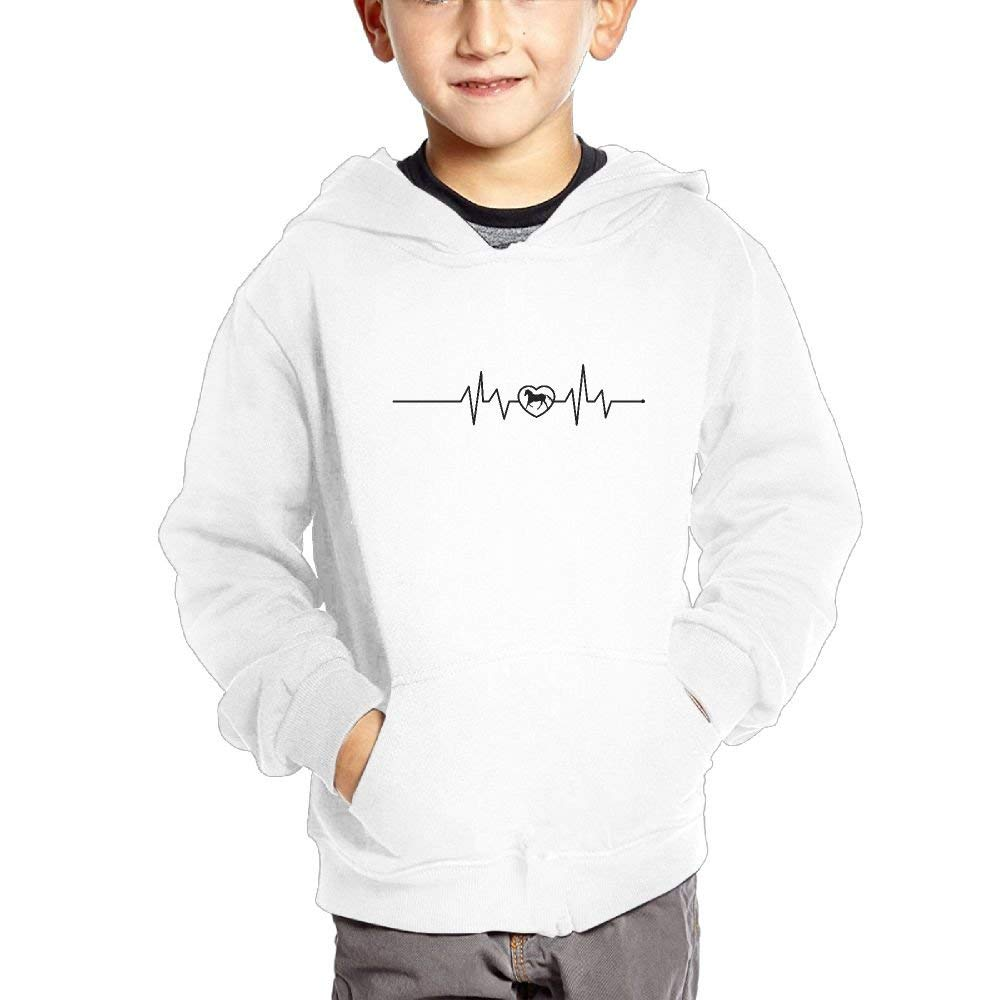 Ngng Hoodies Horse Heartbeat Funny Boys Kids Hooded Pullover Cotton Hoodies With Pocket