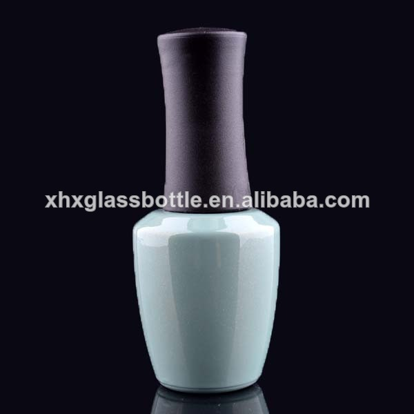 Wholesale Cone shape 15Ml Colored glass Empty Uv Gel Nail Polish Bottles