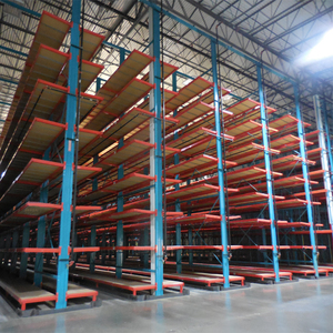 Material cantilever pallet racking systems for industrial warehouse
