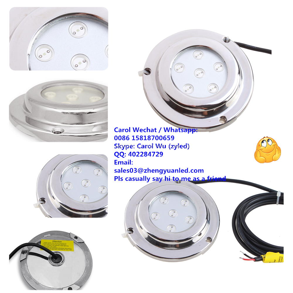 Super Bright TOP Quality waterproof IP68 6W LED under water light boat surface-mount light for yacht/boat/pool/fishing/marine