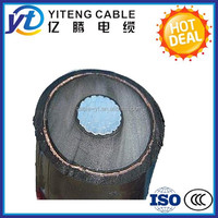 Cooper or Aluminum conductor Medium Voltage Power Cable AWG Standard