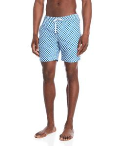 Customize Print Swim Trunk Front Slip Pocket Allover Contrast Printed 100% Polyester Surf Short