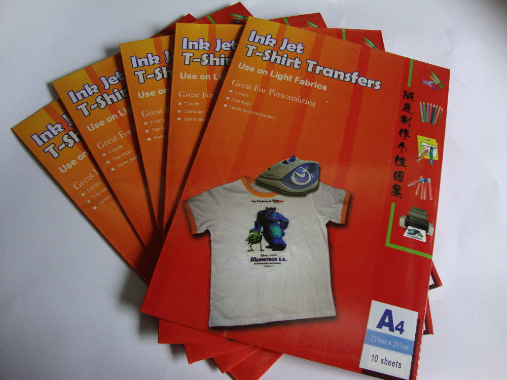 picture relating to Printable Iron on Paper titled A3 Dimension*10 Sheets Tshirt Iron Upon Move Papers Inkjet Warmth