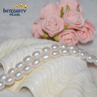7mm AA drop shape girls love the fascinating natural pearl strand
