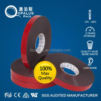Water activated double back foam tape