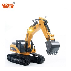 Huina 1580 mechanical engineering 1:14 remote control excavator rc truck