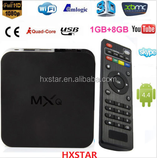 Internet tv box with channels 1GB8GB Amlogic S805 XBMC KODI H.265 MXQ s805 quad core android tv case hd18q mxq smart tv box