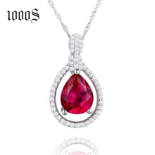 Factory New Custom Design 925 Sterling Silver Ruby & Sapphire Pendant Charm Jewellery