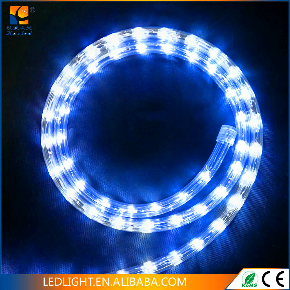 RGB 2 wires round 100m LED rope light wholesale, outdoor neon flex light christmas decorations rope lights