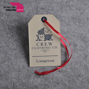 Custom made jeans printed paper swing standard hand tag size for garment