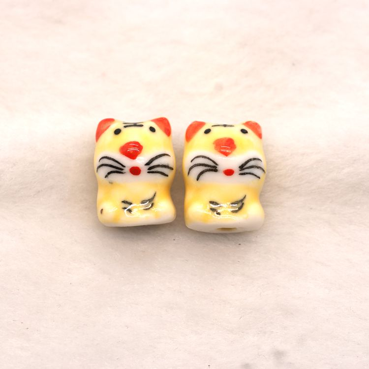 cartoon tiger shape animal beads of twelve Chinese zodiac signs