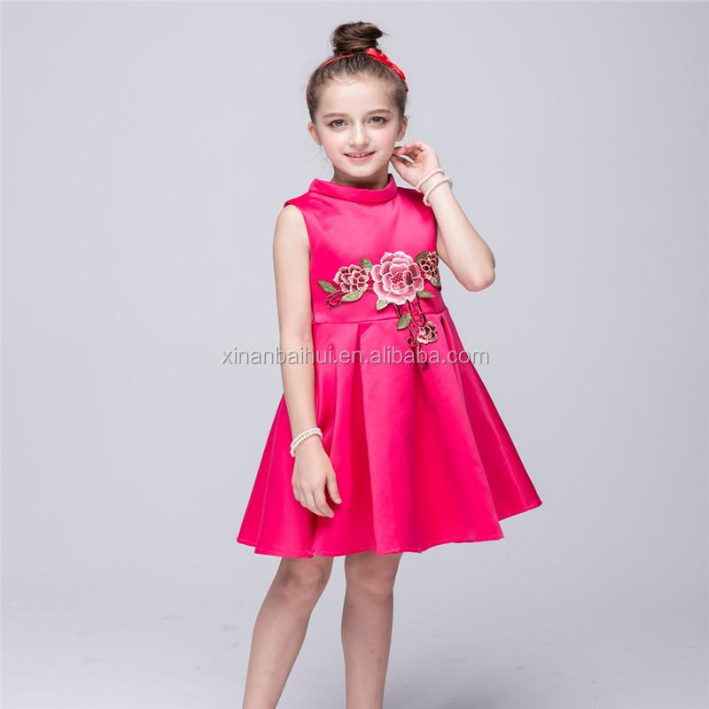 Lujo estilo europeo vestido de princesa bordado Peony diseño niña ...