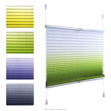 Hot sale easy fix pleated blinds, eco-friendly plisse blinds