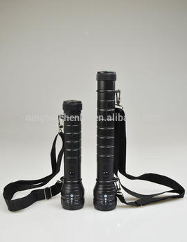 Tactical Led Flashlight use D Battery Camping Outdoor Torch Emergency Lamp