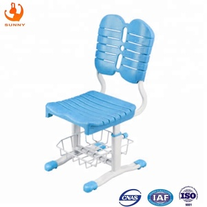 Blue height adjustable standard size of school chair children study table and chair set