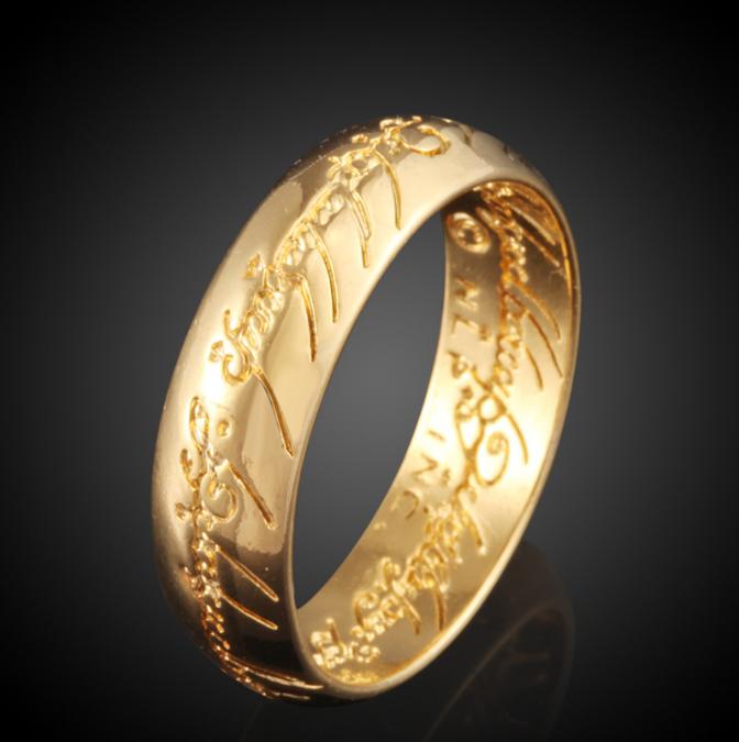 Newest Arabic Language Engraved Gold Jewelry Design Wedding Ring