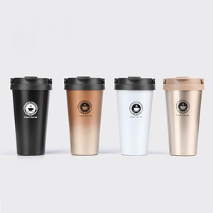 2018 Hot Sale Double Wall Wholesale Coffee Tumblers Stainless Steel Coffee Mugs With Handle Custom Logo