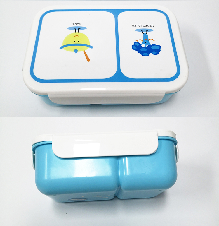 METIS good sale plastic kids bento lunch box with spoon