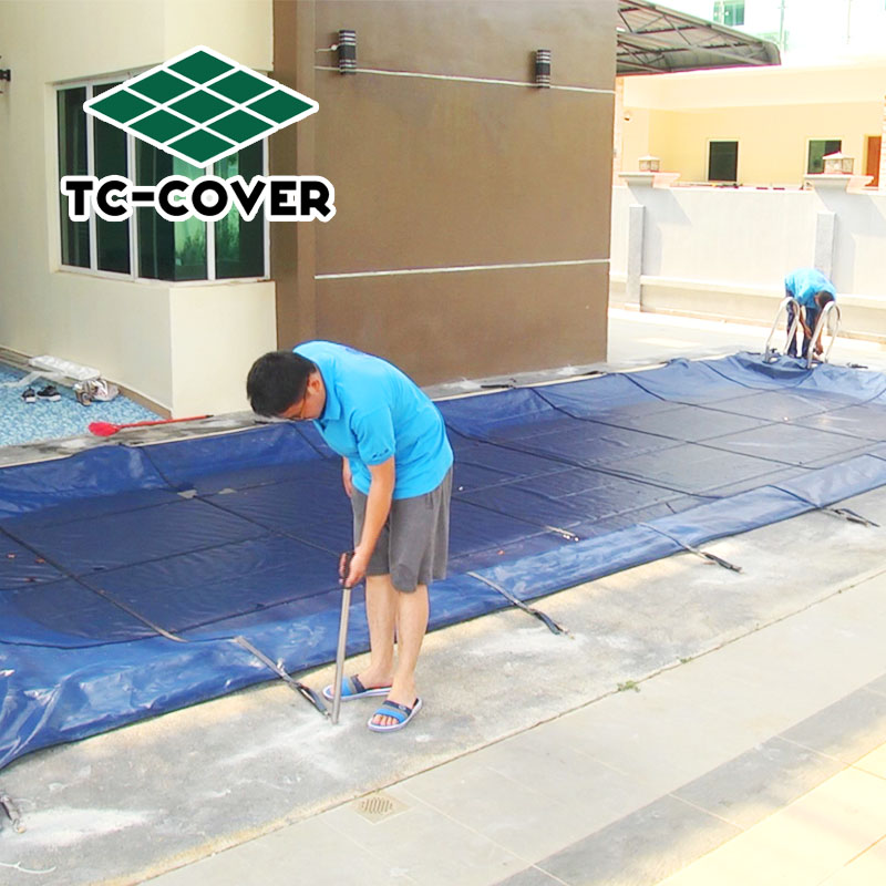 pe tarpaulin used for pool oversized patriot winter cover safety barriers plastic meshes